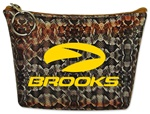 Lenticular zipper purse with snake skin print, color changing