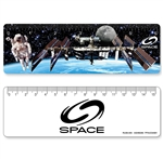 Lenticular ruler with NASA astronaut Images
