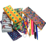 Lenticular pencil case with custom design, color changing patterns and colors