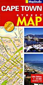 Cape Town, South Africa, Streetplan by Map Studio