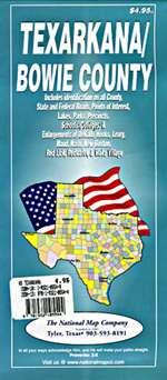 Texarkana and Bowie County, Texas by American Drafting & Maps