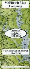 America of the Civil War, 1861-1865 by McElfresh Map Co.