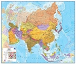 Asia, Political, laminated by Maps International Ltd.