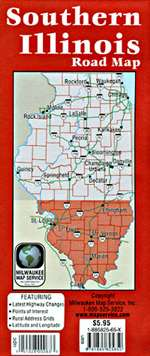 Illinois, Southern by Milwaukee Map Service