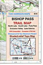 Bishop Pass, California by Tom Harrison Maps
