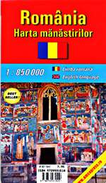 Romania, Monasteries Map by Amco Press