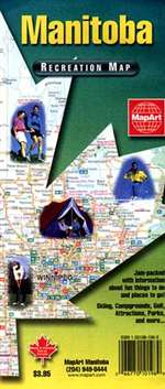 Manitoba, Canada, Recreation Map by MapArt