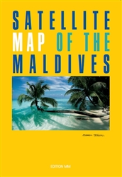 Maldives, Satellite Map by MM Photodrucke