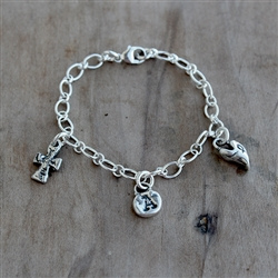 Long Short Cable Chain Bracelet with Swivel Lobster Claso