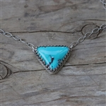 Turquoise Triangle Necklace
