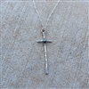 Skinny Turquoise Cross Necklace