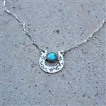 Turquoise Horseshoe Necklace