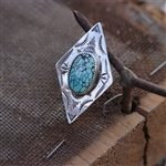 Turquoise Diamond Shaped Ring