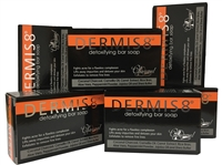 Dermis 8° Detoxifying Charcoal Soap Bar 200g (6 pack)