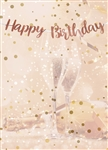 Happy Birthday Rose Gold Letter Banner