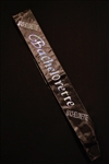 BLACK BACHELORETTE SASH WITH CLEAR STONES