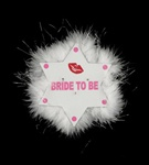 FLASHING BRIDE TO BE STAR BROOCH