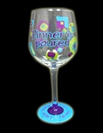 'DINNER IS POURED' WINE GLASS
