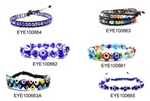 Evil Eye Bead Bracelet, Wholesale Sample Pack, 12 Assorted Bracelets