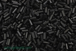 Bugle Bead, Vintage, Czechoslovakian, Hex Cut, 4MM, #2, Black