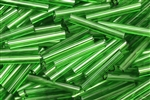 Tube Bead, 18MM, Vintage, Italian, Green