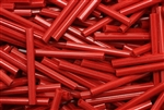 Bugle Bead, Vintage, Czechoslovakian, 23MM, Red