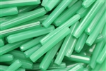 Tube Bead, Vintage, Italian, Hex Cut, Sea Green