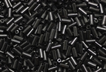 Bugle Bead, 5MM, Japanese, Triangle Brand, Vintage, Black