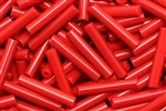 Tube Bead, Vintage, Czechoslovakian, 18MM, Red
