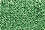 Bugle Bead, Vintage, Czechoslovakian, 2MM, #1, 1.2MM Thick, Green