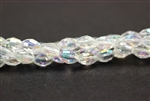 6MM X 4MM Crystal Barrel / Crystal AB