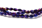 6MM X 4MM Crystal Barrel / Metallic Purple Iris