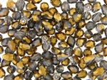 7MM X 5MM Tear Drop Shaped Crystal / Crystal Dark Gold Metallic