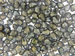 7MM X 5MM Tear Drop Shaped Crystal / Smoky Gray Olive Metallic