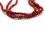 Bead, Crystal, Faceted, Rondelle, 2.5MM X 3.5MM, Red Velvet