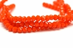 Bead, Crystal, Faceted, Rondelle, 4MM X 6MM, Orange Velvet