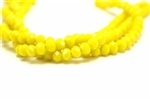 4MM X 6MM Crystal Rondelle / 8 IN Strand,Yellow Velvet