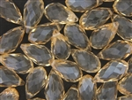 10MM X 19MM Crystal Briolette / Light Topaz