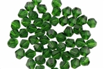 Bead, Crystal, Bicone, Faceted, 4MM, Emerald Green