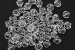 Bead, Crystal, Bicone, Faceted, 4MM, Crystal