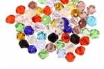 Bead, Crystal, Bicone, Faceted, 4MM, Mixed Color