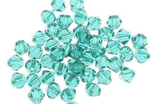 Bead, Crystal, Bicone, Faceted, 4MM, Teal