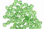 Bead, Crystal, Bicone, Faceted, 4MM, Fern Green