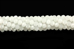 Bead, Crystal, 3MM X 4MM, Rondelle, White Pastel