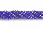 Bead, Crystal, 3MM X 4MM, Rondelle, Dark Blue