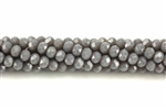 Bead, Crystal, 3MM X 4MM, Rondelle, Gray