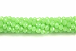 Bead, Crystal, 3MM X 4MM, Rondelle, Spring Green Pastel