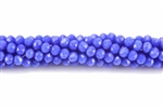 Bead, Crystal, 3MM X 4MM, Rondelle, Royal Blue