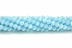 Bead, Crystal, 3MM X 4MM, Rondelle, Light Baby Blue