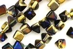 6MM Pyramid Shaped Czech Beads 2 Hole / California Blue